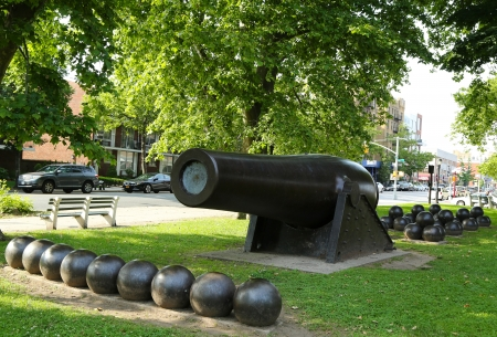 muzzle loading: 20 inch Parrott Cannon of 1864 as a Civil War Memorial in Bay Ridge area of Brooklyn, New York  It was the largest muzzle-loading cannon ever forged on US soil
