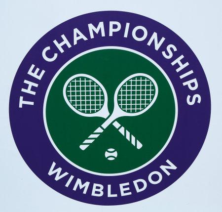 Wimbledon tennis championship emblem Editorial