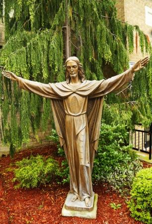 Bronze statue of Jesus Christ  photo