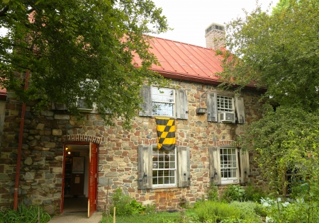 best location: BROOKLYN, NY - JULY 13: The Old Stone House in Brooklyn on July 13, 2013.On August 27, 1776, the house was an important location in the Battle of Brooklyn during the American Revolutionary War