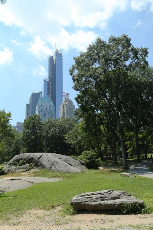 annually: NEW YORK CITY - JULY 18:Central Park in  New York on July 18, 2013.Central Park is a public park at the center of Manhattan in New York City. The park has about 37.5 million visitors annually
