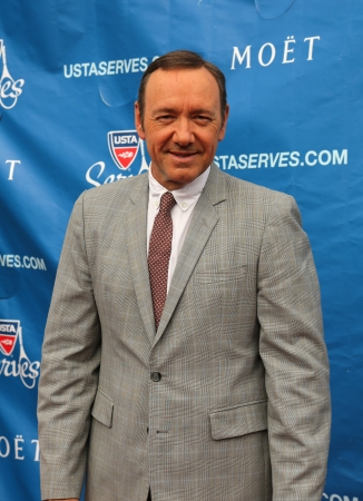 spacey:  FLUSHING, NY - AUGUST 26  Two times Academy Award winner Kevin Spacey at the red carpet before US Open 2013 opening night ceremony at USTA Billie Jean King National Tennis Center on August 26, 2013  in Flushing, NY Editorial