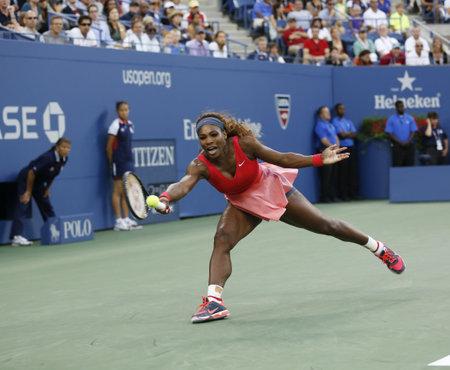 billie: FLUSHING, NY - SEPTEMBER 8  Seventeen times Grand Slam champion Serena Williams during her final match at US Open 2013 against Victoria Azarenka at Billie Jean King National Tennis Center on September 8, 2013 in Flushing, NY