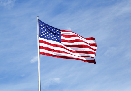 waving flag: American flag