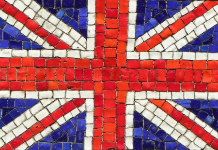United Kingdom Flag in Mosaic photo
