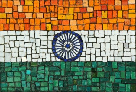 bandera de la india: Bandera de la India en mosaico