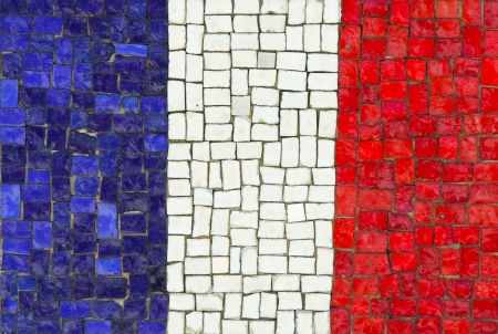 French Flag in Mosaic photo