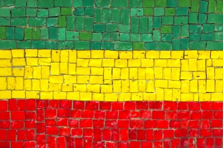 ethiopian: Ethiopian Flag in Mosaic Stock Photo