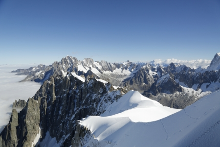 massif: Mont Blanc massif in the French Alps