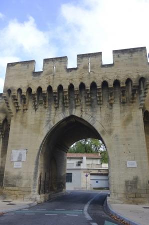 Saint Roch Gate in medieval city of Avignon, France
