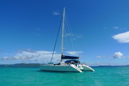 moorings: The Moorings charter yacht near Tortola, British Virgin Islands Stock Photo
