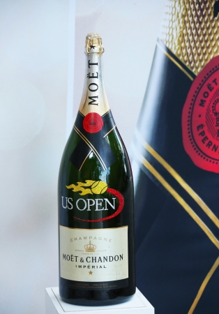 flushing: FLUSHING, NY - AUGUST 27 Moet and Chandon champagne presented at the National Tennis Center during US Open 2013 on August 27,2013 in Flushing  Moet and Chandon is the official champagne of the US Open Editorial