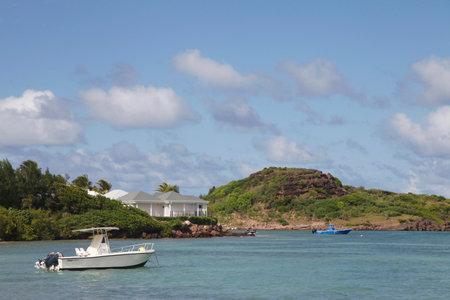 cul de sac: Grand Cul de Sac Bay at St  Barts, French West Indies