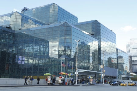 NEW YORK - OCTOBER 24  Javits Convention Center in Manhattan on October 24, 2013  The convention center has a total area space of 1 800 000 square ft and has 840 000 square ft of total exhibit space Stock Photo - 23851052