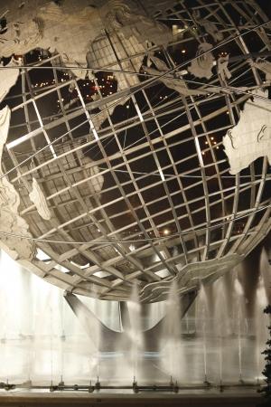 flushing: New York World s Fair Unisphere in Flushing Meadows Park