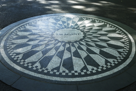 NEW YORK - SEPTEMBER 9 Strawberry Fields in Central Park, New York City  on September 9, 2013