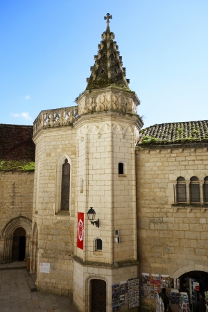 episcopal: Chappel Saint Jean Baptiste in Episcopal City of Rocamadour, France  Rocamadour is a medieval walled village and an episcopal city built on the cliff