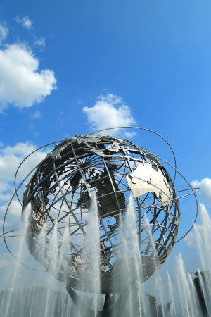 NEW YORK - AUGUST 20 1964 New York World s Fair Unisphere in Flushing Meadows Park on August 20, 2013  It is the world s largest global structure, rising 140 feet and weighing 700,000 pounds