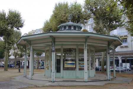 napoleon i: VICHY, FRANCE -OCTOBER 8  The gazebo in the Park des Sources in Vichy on October 8, 2013  The Park des Sources arranged around the springs by decree of Napoleon I