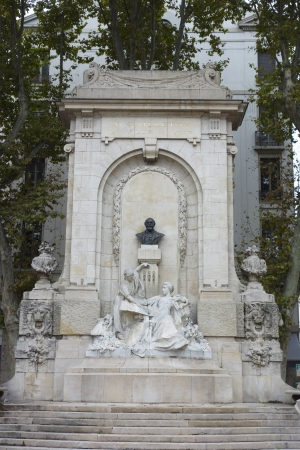 legion: LYON, FRANCE- OCTOBER 8  Antoine Gailleton monument in Lyon on October 8, 2013  Antoine Gailleton was a Mayor of Lyon from 1881 till 1900  He was Grand Officer of the Legion of Honor