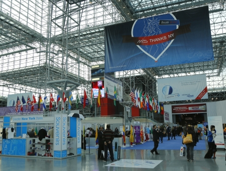 NEW YORK - DECEMBER 2 Registration area at the Greater NY Dental Meeting at Javits Center on December 2, 2013 The Greater New York Dental Meeting is the largest healthcare and dental event in the US