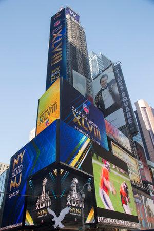 seahawks: NUEVA YORK - 30 de enero W Times Square Hotel durante el Super Bowl XLVIII semana en Manhattan el 30 de enero 2014