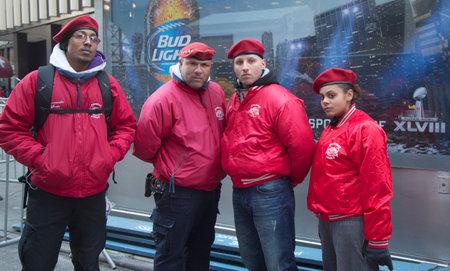 NEW YORK - JANUARY 30  The Guardian Angels Patrol on Broadway on January 30, 2014 The Guardian Angels is a non profit international volunteer organization of unarmed citizen crime patrollers