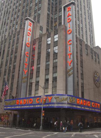 NEW YORK - JANUARY 26  New York City landmark, Radio City Music Hall in Rockefeller Center on January 26, 2014  The Radio City Christmas Spectacular is a New York Christmas tradition since 1933 Editorial