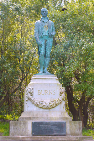 SAN FRANCISCO, CA - MARCH 29  Robert Burns Monument in Golden Gate Park in San Francisco on March 29, 2013  Robert Burns is widely regarded as the national poet of Scotland and is celebrated worldwide Editorial