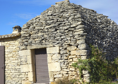 Borie or dry-stone hut in Gordes, Provence, France                                  photo