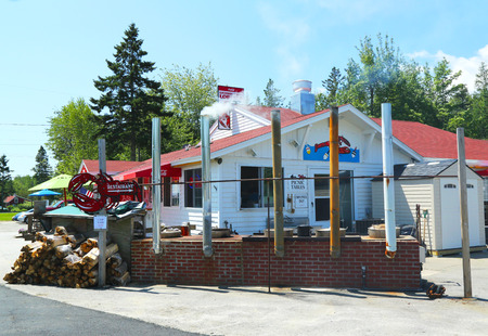 TRENTON, MAINE - July 5  Traditional lobster pound restaurant on July 5, 2013 in Maine  It is a famous location in Down East Maine with a long history of lobstering