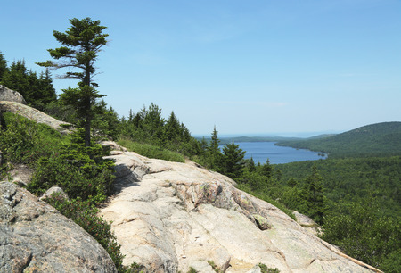 erratic: Areal view from the South Bubble Mountain At Acadia National Park, Maine, USA