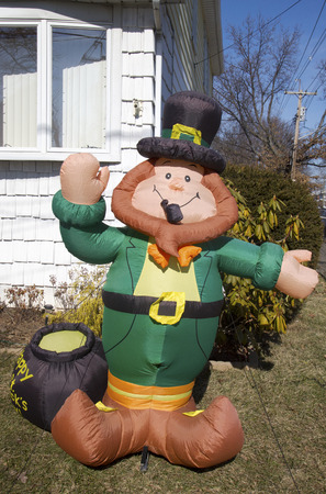 irish culture: St  Patrick s Day outdoor decoration Editorial