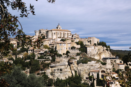 cited: Hilltop medieval village of Gordes, France