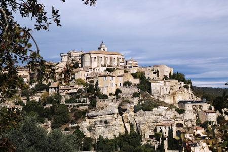 cited: Hilltop medieval village of Gordes, France