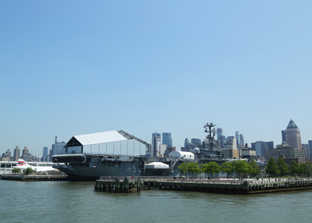 NEW YORK - MAY 21  USS Intrepid in New York on May 21, 2013  The USS Intrepid hosts the Intrepid Sea, Air and Space Museum in New York City