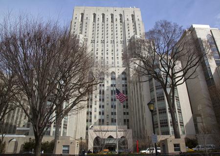 NEW YORK - MARCH 13 New York Presbyterian Weill Cornell Medical Center in Manhattan on March 13, 2014  The hospital is considered among the best in the world and is currently ranked 7th in the nation Sajtókép