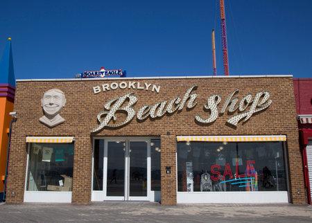 famous industries: BROOKLYN, NEW YORK - MARCH 18 Brooklyn s Landmark Coney Island Beach Shop on March 18, 2014 at Coney Island, New York