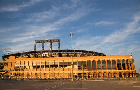 FLUSHING, NY - APRIL 8  Citi Field, home of major league baseball team the New York Mets on April 8, 2014 in Flushing, NY  Stock Photo - 27310343