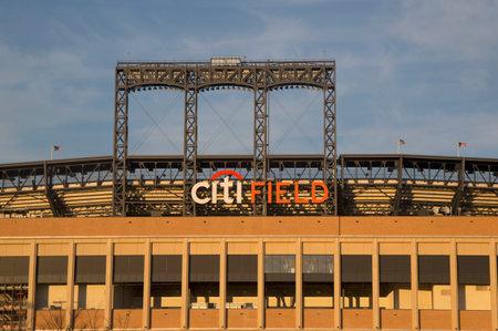 FLUSHING, NY - APRIL 8  Citi Field, home of major league baseball team the New York Mets on April 8, 2014 in Flushing, NY  Stock Photo - 27310344