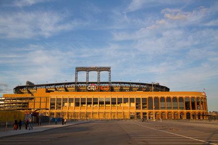 FLUSHING, NY - APRIL 8  Citi Field, home of major league baseball team the New York Mets on April 8, 2014 in Flushing, NY  Stock Photo - 27310345
