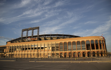 FLUSHING, NY - APRIL 8  Citi Field, home of major league baseball team the New York Mets on April 8, 2014 in Flushing, NY  Stock Photo - 27310347
