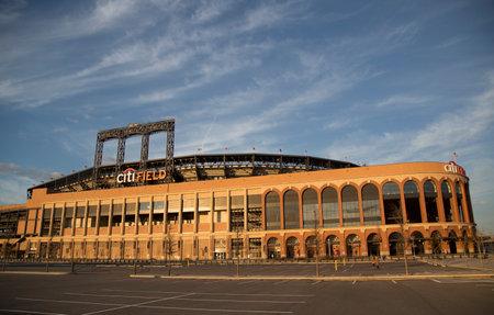 FLUSHING, NY - APRIL 8  Citi Field, home of major league baseball team the New York Mets on April 8, 2014 in Flushing, NY  Stock Photo - 27310347