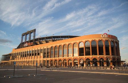 FLUSHING, NY - APRIL 8  Citi Field, home of major league baseball team the New York Mets on April 8, 2014 in Flushing, NY  Stock Photo - 27310346