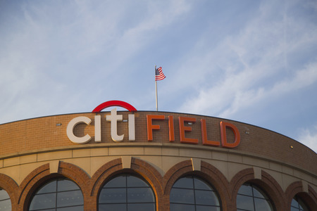FLUSHING, NY - APRIL 8  Citi Field, home of major league baseball team the New York Mets on April 8, 2014 in Flushing, NY  Stock Photo - 27310349