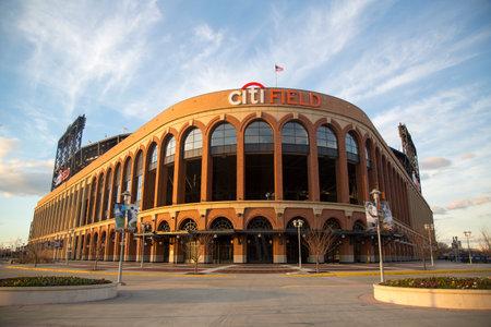 FLUSHING, NY - APRIL 8  Citi Field, home of major league baseball team the New York Mets on April 8, 2014 in Flushing, NY  Stock Photo - 27310348