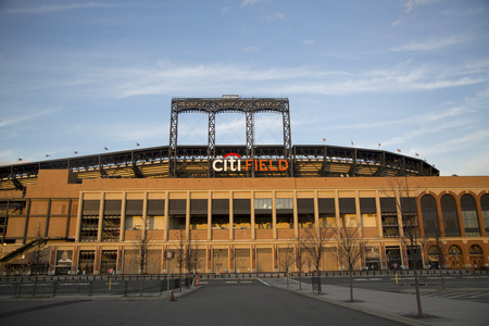 FLUSHING, NY - APRIL 8  Citi Field, home of major league baseball team the New York Mets on April 8, 2014 in Flushing, NY  Stock Photo - 27310357