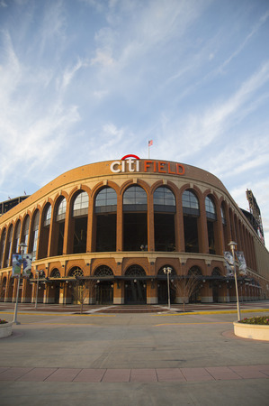 FLUSHING, NY - APRIL 8  Citi Field, home of major league baseball team the New York Mets on April 8, 2014 in Flushing, NY  Stock Photo - 27310358