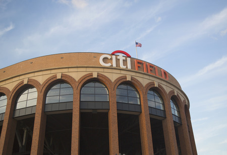 FLUSHING, NY - APRIL 8  Citi Field, home of major league baseball team the New York Mets on April 8, 2014 in Flushing, NY  Stock Photo - 27310359