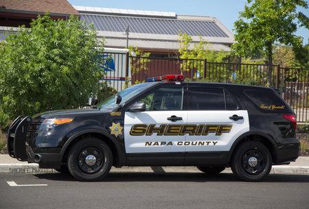 NAPA VALLEY, CA - APRIL 16  Napa County sheriff s car in Yountville on April 16, 2014  Sajtókép